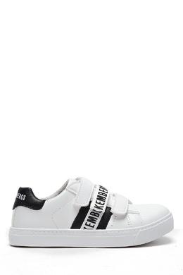 Белые кроссовки на липучке Bikkembergs 1487183432
