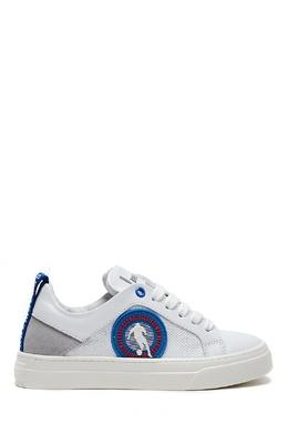 Серо-белые кожаные кроссовки Bikkembergs 1487183434