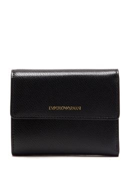 Черный кошелек с логотипом бренда Emporio Armani 2706184029
