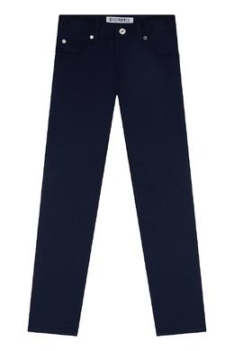 Прямые синие брюки Bikkembergs 1487183508