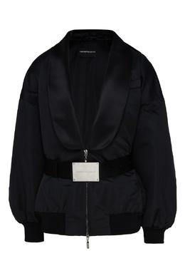 Черная куртка с шалевым воротником Emporio Armani 2706183879