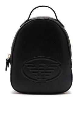 Черный рюкзак из эко-кожи Emporio Armani 2706184025