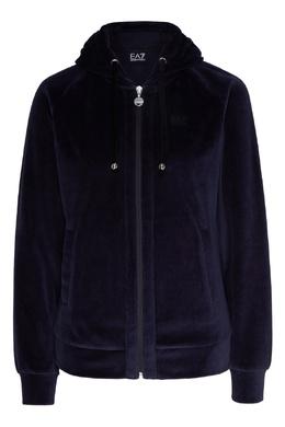 Темно-синяя толстовка с капюшоном Emporio Armani 2706183983