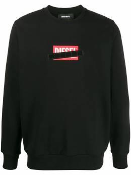 Diesel logo patch crewneck sweatshirt 00SEF40KAXU