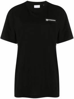 Burberry футболка со вставкой в клетку Vintage Check 8024545A1189
