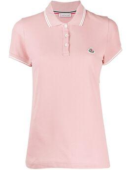 Moncler рубашка-поло с нашивкой-логотипом 8A7020084667
