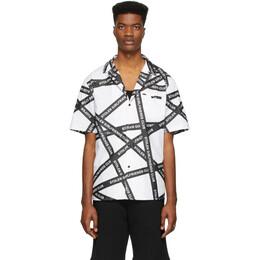 Stolen Girlfriends Club White Duct Tape Hawaiian Shirt C4-19D204