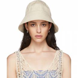 Jil Sander Off-White Denim Bucket Hat JPPQ590371 WQ246500