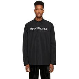 Vetements Black Gothic Logo Shirt SS20SH285