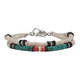 Isabel Marant Blue and Beige Seashell Bracelet 20PBR0723-20P001T