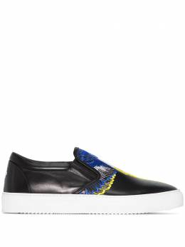 Marcelo Burlon County Of Milan Wings embroidered slip-on sneakers CMIA015S20LEA0011015