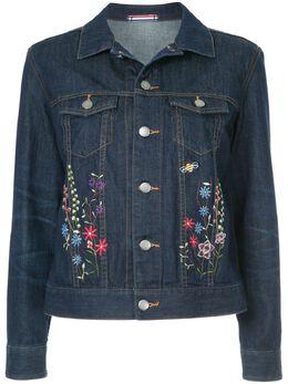 Guild Prime джинсовая куртка с цветочной вышивкой 72F6070428