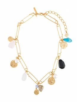 Oscar De La Renta ancient coin pendant necklace R20J026GOL