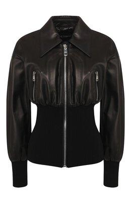 Кожаная куртка Dolce&Gabbana F9H66L/HULD8