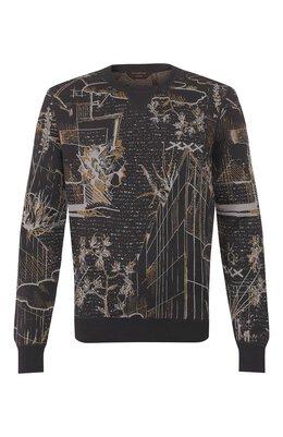 Джемпер из смеси хлопка и шелка Zegna Couture CUF91/110