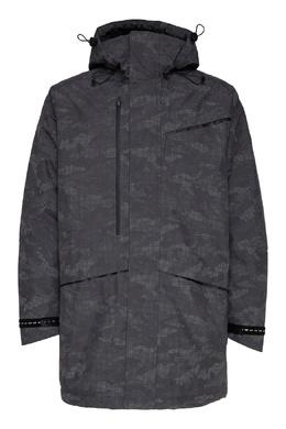 Серая куртка с защитным узором Emporio Armani 2706184047