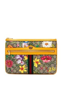 Сумка-конверт Ophidia GG Supreme Flora Gucci 470183838