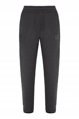 Серые брюки с лампасами Emporio Armani 2706184037