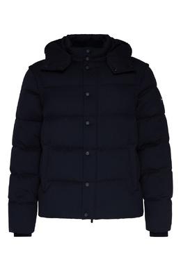Темно-синяя куртка с капюшоном Emporio Armani 2706184101