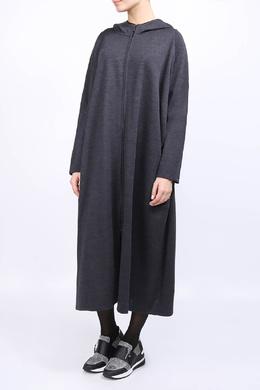 Удлиненный кардиган темно-серого цвета Ereda 2482183770