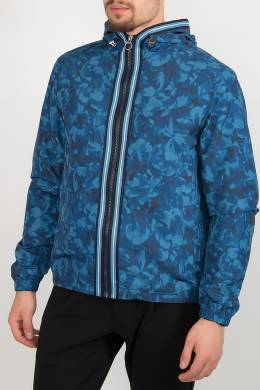Синяя куртка с застежкой-молнией Michael Kors 2137183765