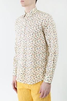 Бежевая рубашка с узором пейсли Etro 907183807
