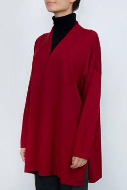 Бордовый кардиган свободного кроя Revera 2402183619