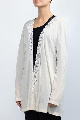Белый кардиган с кружевом Hanro 2360183626