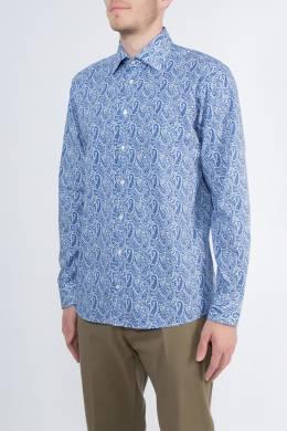 Белая рубашка с синим узором пейсли Etro 907183784