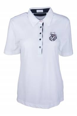 Белое поло с вышивкой Van Laack 2285183586