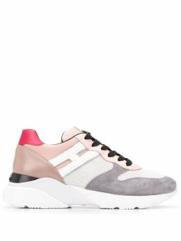 Hogan wedge heel panelled sneakers HXW3850BF50NKW0PQV