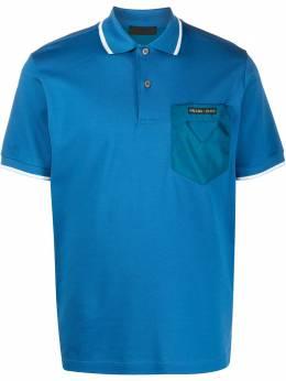 Prada contrast pocket polo shirt UJN617S2011VT8