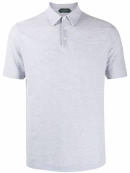 Zanone striped cotton polo shirt 811818ZW376