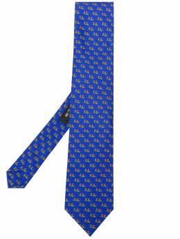 Etro Micro Pegaso-print silk tie 120265112