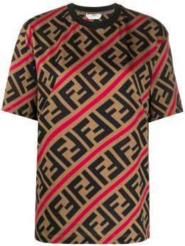 Fendi футболка с логотипом FF FS7011A7A8