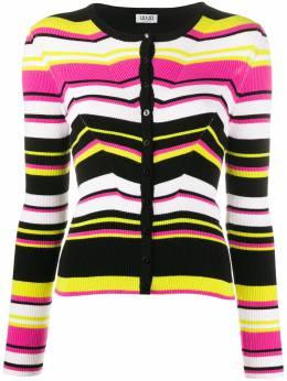 Liu Jo fitted striped knitted cardigan MA0084MA99E