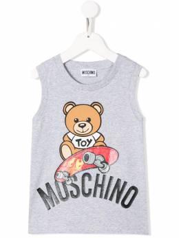 Moschino Kids TEEN teddy bear vest HMM02FLBA10