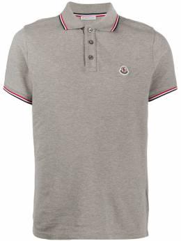Moncler рубашка-поло с отделкой в полоску 8A7030084556