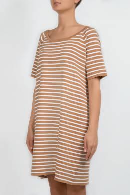 Платье карамельного цвета в полоску Michael Kors 2137183475
