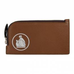 Lanvin Brown Zipped Wallet LW-SLUP04-BRET-P20