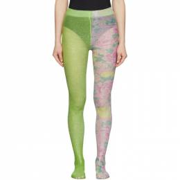 Marc Jacobs Green The Left and Right Print Tights N9000011