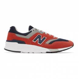 New Balance Red and Navy 997H Sneakers CM997HBJ