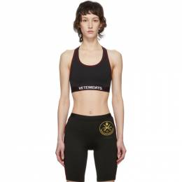 Vetements Black Russian Police Sports Bra SS20TR350