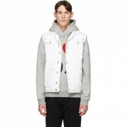Dsquared2 White Canvas Puffer Vest S74FB0253 S52032