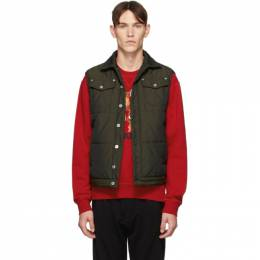 Dsquared2 Green Canvas Puffer Vest S74FB0253 S52032