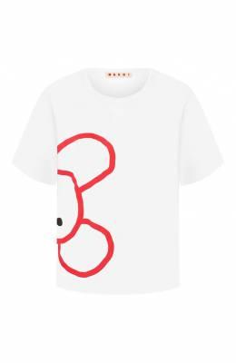 Хлопковая футболка Marni THJEL32EP2/SCQ57