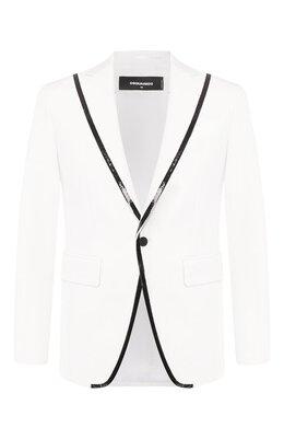 Пиджак из смеси хлопка и шелка Dsquared2 S74BN0971/S36606