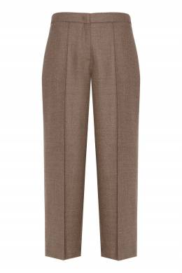 Светло-коричневые шерстяные брюки Erika Cavallini 1770184246