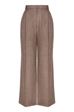 Коричневые шерстяные брюки Erika Cavallini 1770184245