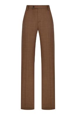 Шерстяные брюки цвета хаки Erika Cavallini 1770184237